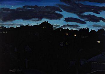 Suburban Evening 2004  57.5x80